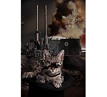 Steampunk Sid Kitten Overlord Photographic Print