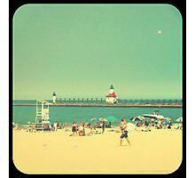 Silver Beach Photographic Print