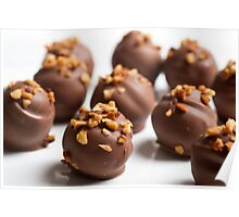 nut coated Chocolate truffles  Poster