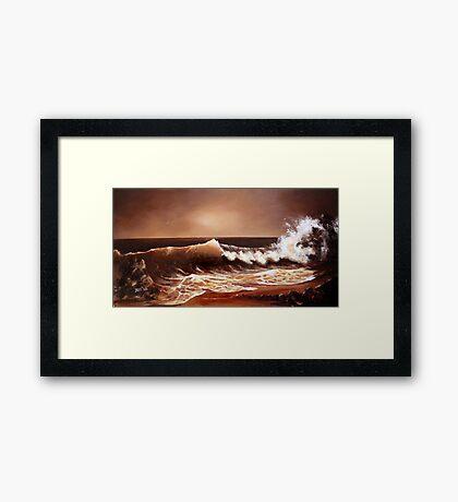 Caramel Coast Framed Print