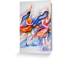 double delight, salsa cubism Greeting Card