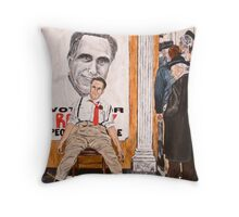 Romney's Fate: Election 2012 Throw Pillow