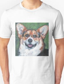 Pembroke Welsh Corgi Fine Art Painting T-Shirt
