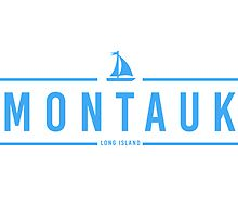 Hipster Montauk with Sailboat  by © Rachel La Bianca Designs