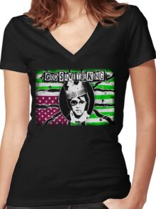 God Save The King Women's Fitted V-Neck T-Shirt