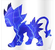 Luxray used discharge Poster