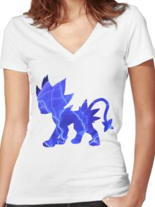 Luxray used discharge Women's Fitted V-Neck T-Shirt