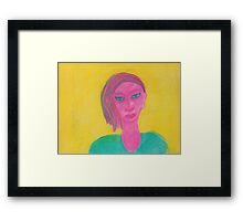 Pink Pastel Person Framed Print