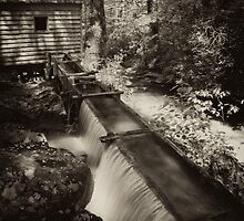 Appalachian Grist Mill water trough by ©  Paul W. Faust