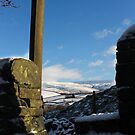 Stone Stile above Gnat Hole, Glossop by Mark Smitham