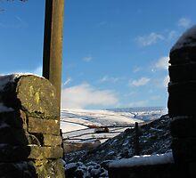 Stone Stile above Gnat Hole, Glossop by Mark Smitham
