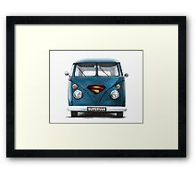 VW Supervan Split Screen Camper Framed Print