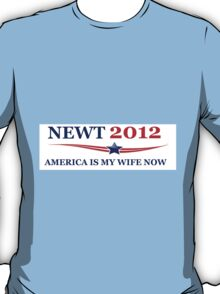NEWT 2012: America Is My Wife Now T-Shirt
