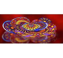 Tilt-a-Whirl. abstract by Alma Lee Photographic Print