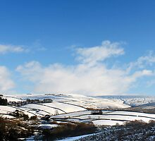 Snowy Patchwork, Bray Clough, Glossop by Mark Smitham