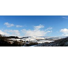 Snowy Patchwork, Bray Clough, Glossop Photographic Print