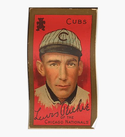 Benjamin K Edwards Collection Lewis Richie Chicago Cubs baseball card portrait Poster
