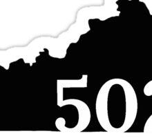 502 Louisville Kentucky Sticker