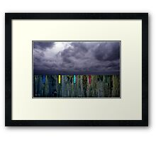 Measuring the Storm Framed Print