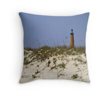 Beachview of Ponce Inlet Lighthouse Throw Pillow