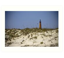 Beachview of Ponce Inlet Lighthouse Art Print
