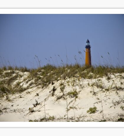 Beachview of Ponce Inlet Lighthouse Sticker