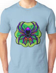Black Widow Spider on Four Leaf Clover Unisex T-Shirt