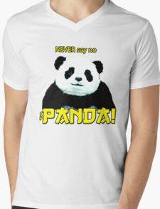 Never say no to Panda Mens V-Neck T-Shirt