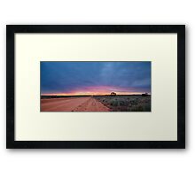 Sunset Road - Mungo NP, NSW Framed Print