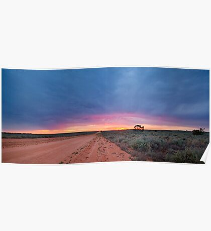 Sunset Road - Mungo NP, NSW Poster