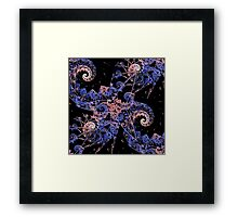 Rhapsody In Pink And Blue Framed Print