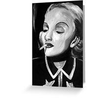 Marlene in Monochrome Greeting Card