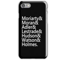 Sherlock Names iPhone Case iPhone Case/Skin