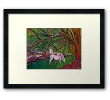 Magnolia Plantation Fantasy Garden Framed Print