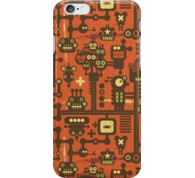 Robots red. iPhone Case/Skin