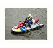 Police water jet ski Art Print
