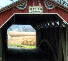 Through The Historic Gottlieb Brown Bridge Sticker