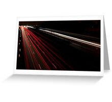 M25 Light Trail Greeting Card