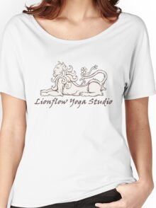 Lionflow Logo , Black & White Women's Relaxed Fit T-Shirt
