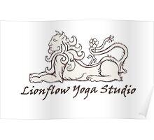 Lionflow Logo , Black & White Poster