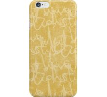 What potions have I distill'd (Mustard) iPhone Case/Skin