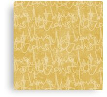 What potions have I distill'd (Mustard) Canvas Print