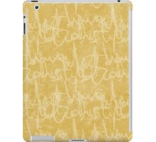 What potions have I distill'd (Mustard) iPad Case/Skin