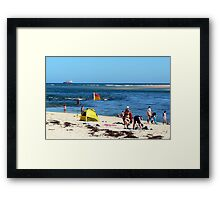 Beach & Bar Framed Print