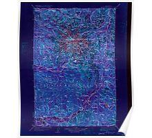 USGS Topo Map Washington State WA Mt Rainier 242669 1928 125000 Inverted Poster