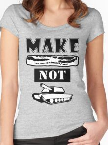 Make Bacon Not War Iconic Tshirt Women's Fitted Scoop T-Shirt