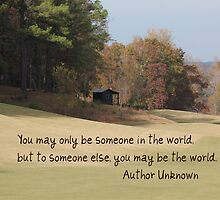 You May Only Be Someone In the World by DebbieCHayes