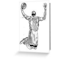 Dwayne Wade Greeting Card
