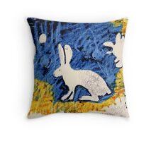 The Rabbit Hole Throw Pillow