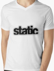 Static Mens V-Neck T-Shirt